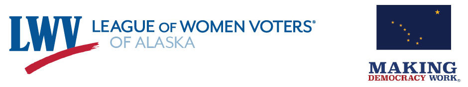 Header for the League of Women Voters of the Central Peninsula - Kenai